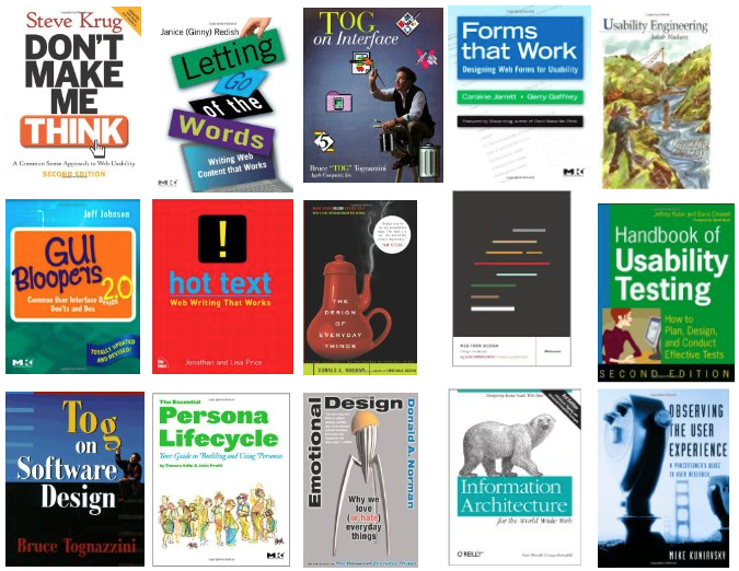 Recommended usability books